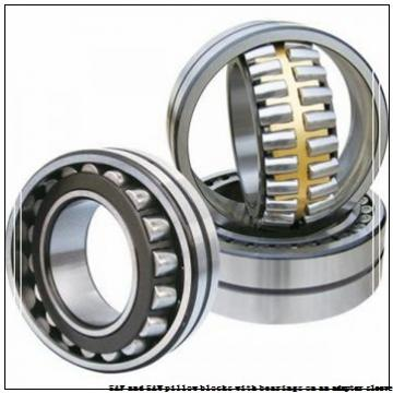 skf FSAF 1616 x 2.3/4 T SAF and SAW pillow blocks with bearings on an adapter sleeve