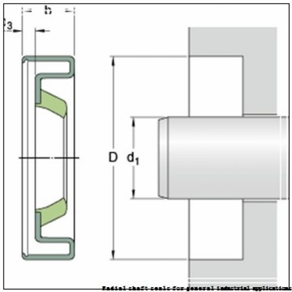 skf 50X80X8 CRW1 R Radial shaft seals for general industrial applications #1 image