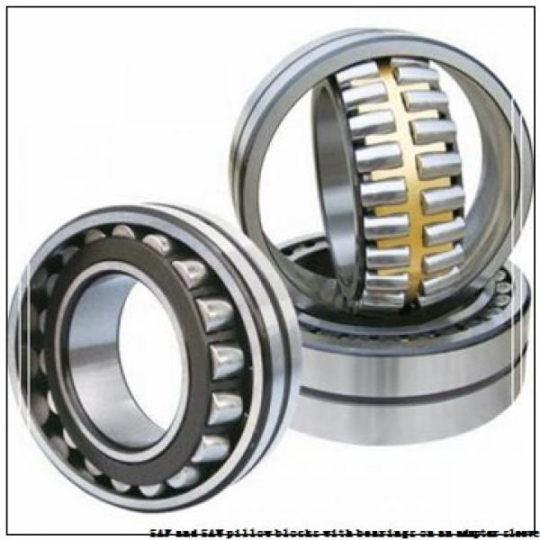 skf SAW 23518 x 3.1/16 SAF and SAW pillow blocks with bearings on an adapter sleeve #3 image